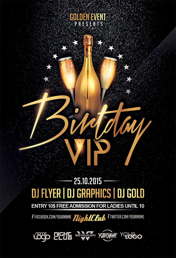 Birthday vip flyer template by wgvisualarts on deviantart birthday vip flyer template by wgvisualarts maxwellsz