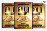GOLD BIRTHDAY Flyer Template