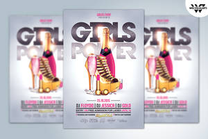 GIRLS WOMAN LADIES Flyer Template by WGVISUALARTS