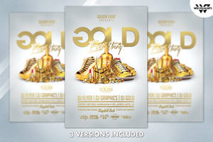 GOLD BIRTHDAY Flyer Template by WGVISUALARTS