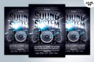 SOUND SYSTEM Flyer Template by WGVISUALARTS