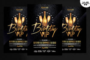 BIRTHDAY VIP Flyer Template by WGVISUALARTS