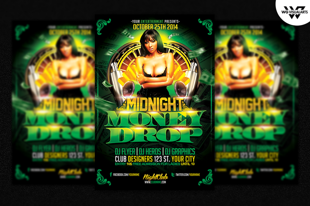 Money Drop Flyer Template By Wgvisualarts On Deviantart