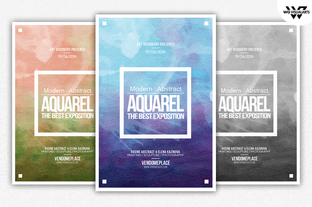 Aquarelle Paint Flyer Template By Wgvisualarts On Deviantart