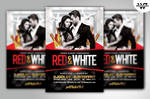 RED And WHITE Flyer Template