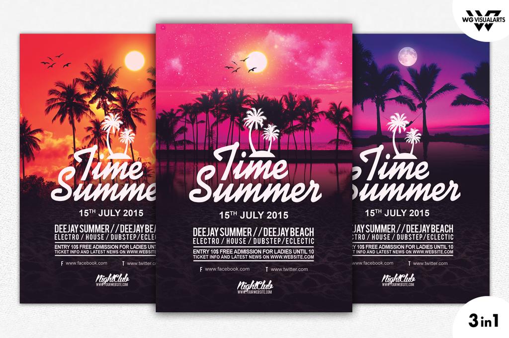 Summer Tropical Flyer Template By Wgvisualarts Deviantart – Desenhos