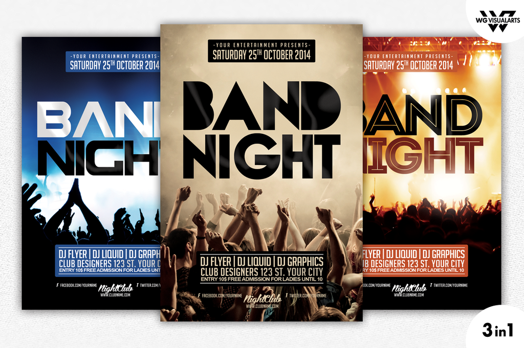 Band Night Concert Flyer Template By Wgvisualarts On Deviantart