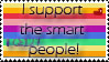 I support the smart people by Kitty-Taylor