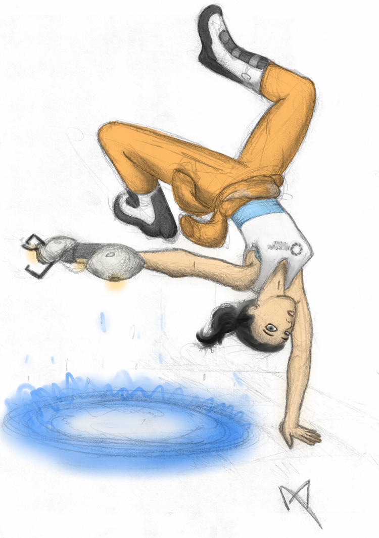 Chell the Portal-eer - Colored by TonyFicticium