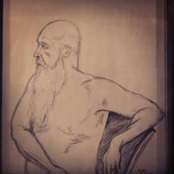 Old man quick sketch