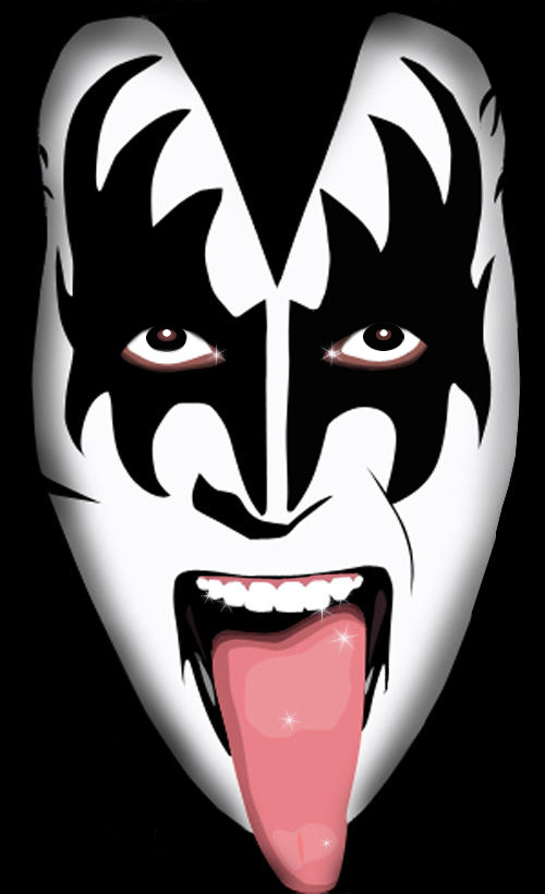 Gene Simmons Kiss Makeup Template - Mugeek Vidalondon