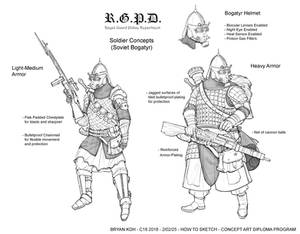 Soviet Bogatyr Soldiers Character Design (Page 1)
