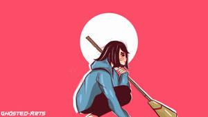 Broom Girl [Illustration]