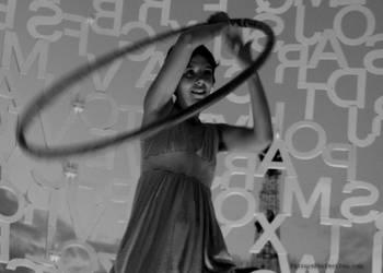 Saree Hula Hoop Girl