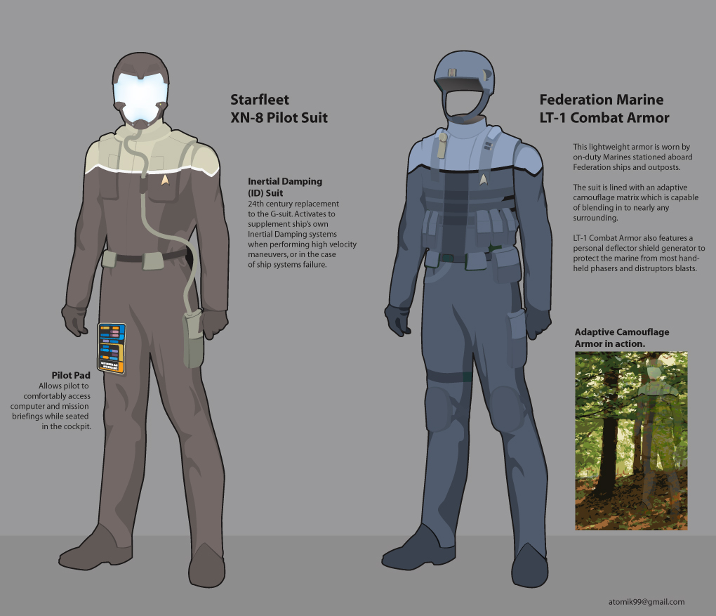 Star Trek uniform concepts by atomik99