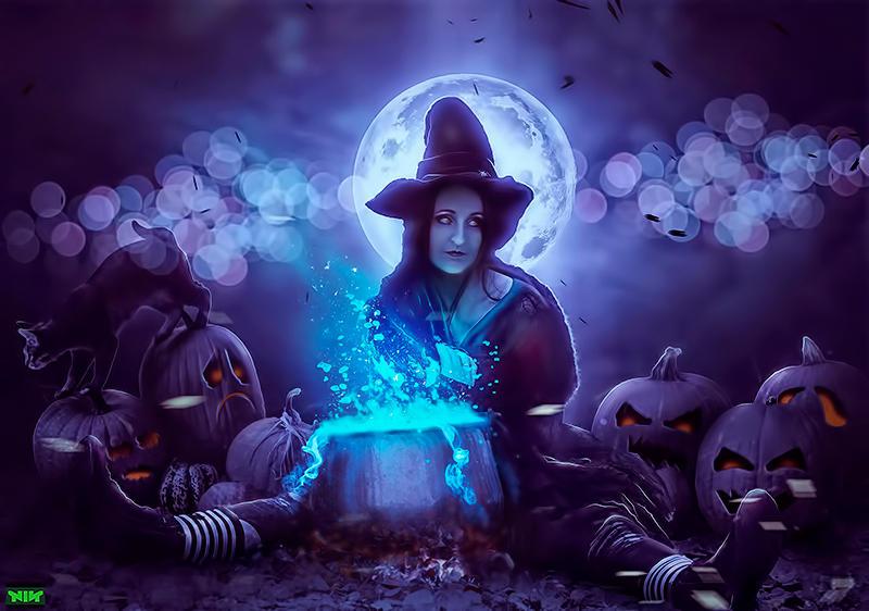 Halloween  Witch by naradjou14