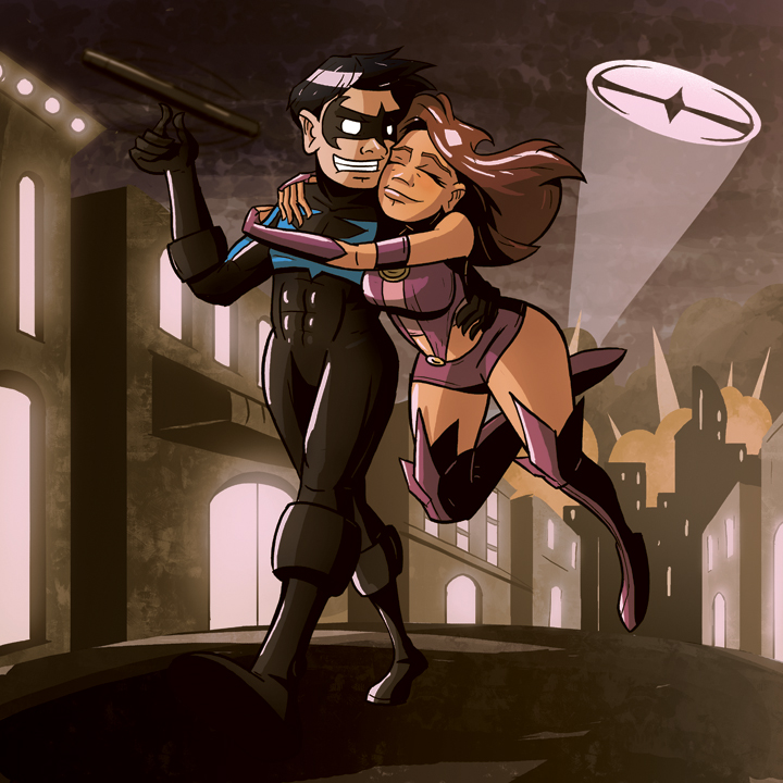 Nightwing+and+starfire