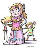Zelda and Link by Josh-Ulrich