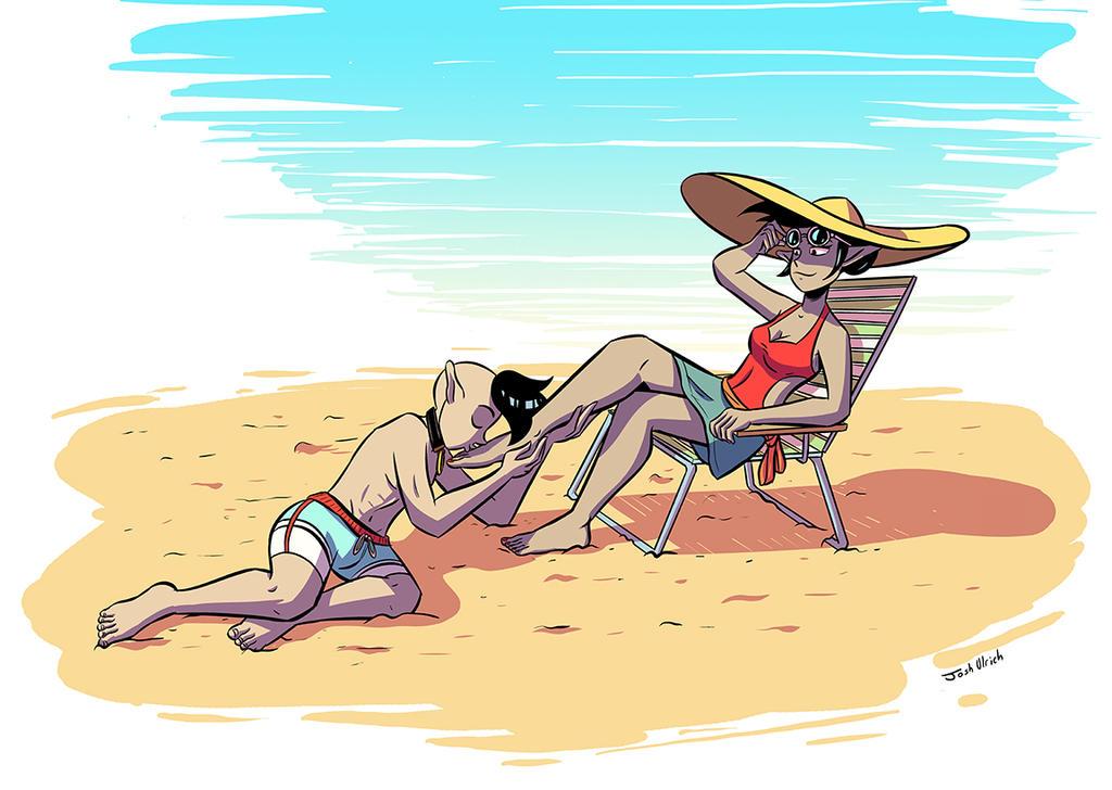 Darian and Kathryn - Beach by Josh-Ulrich