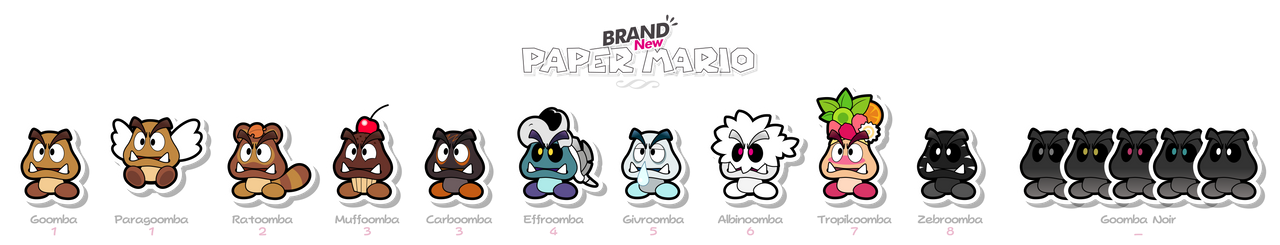 Brand New Paper Goomba by Eniotna