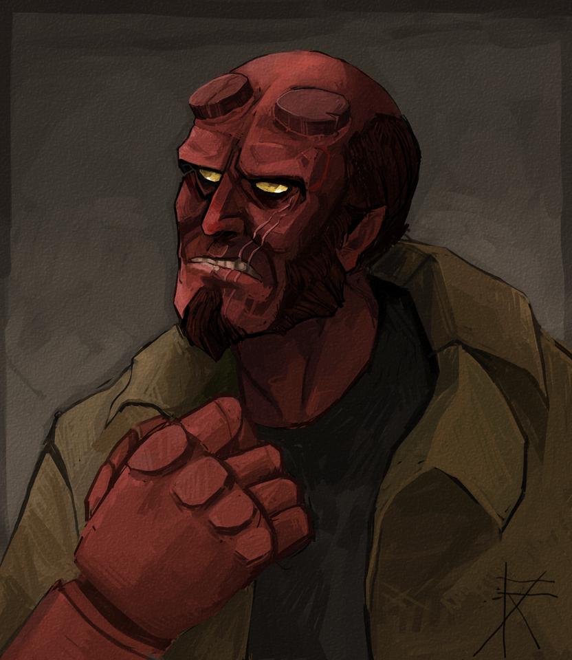 Hellboy by Sipr0na
