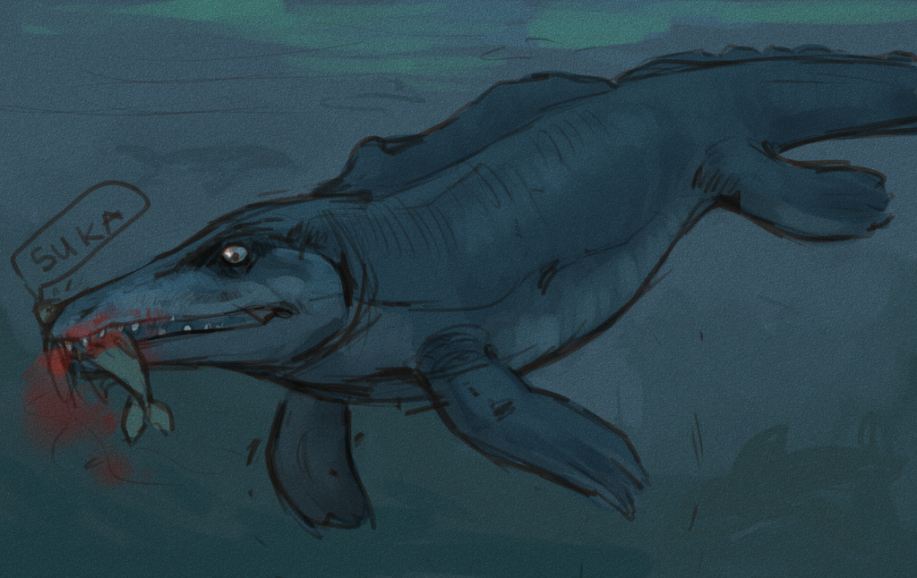 Mosasaurus by Sipr0na