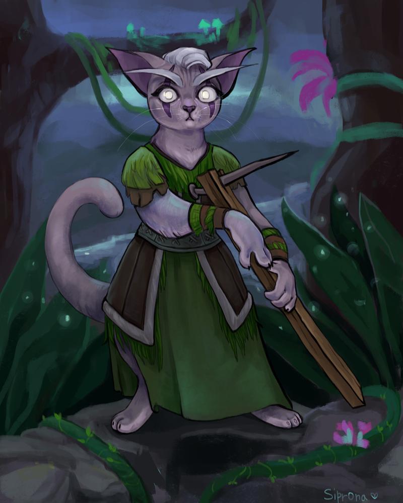 night elf kitten by Sipr0na