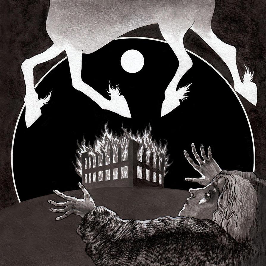 M for Metzengerstein - Edgar Allan Poe Alphabet by ero-nel