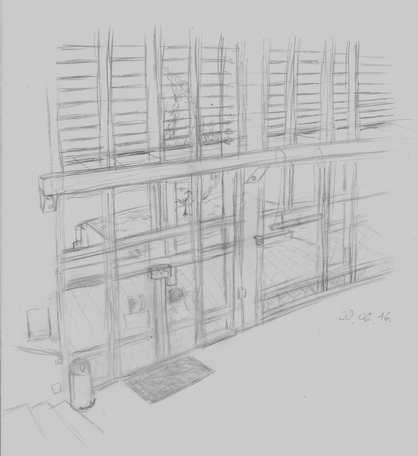 Highschool sketch by Pon-Monster