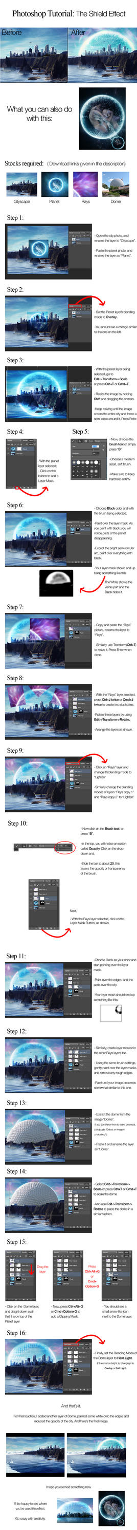 The Shield Effect-Photoshop Tutorial by RohMah1