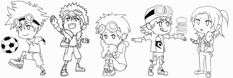 Digimon - Leaders -lineart-
