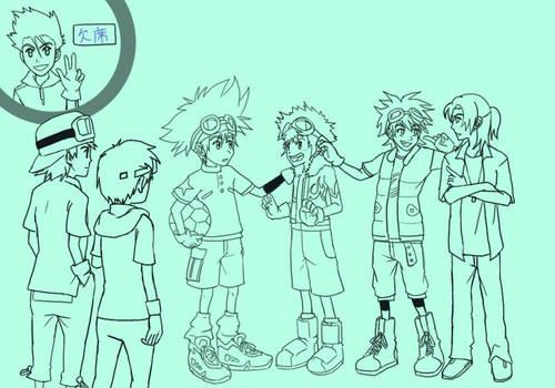 Digimon - Main -lineart-