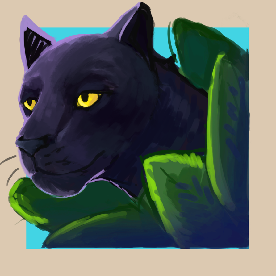Digital Panther Sketch by Toramelle