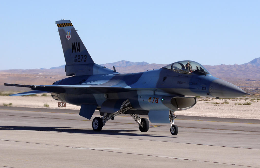 Lockheed F-16C Aggressor by shelbs2
