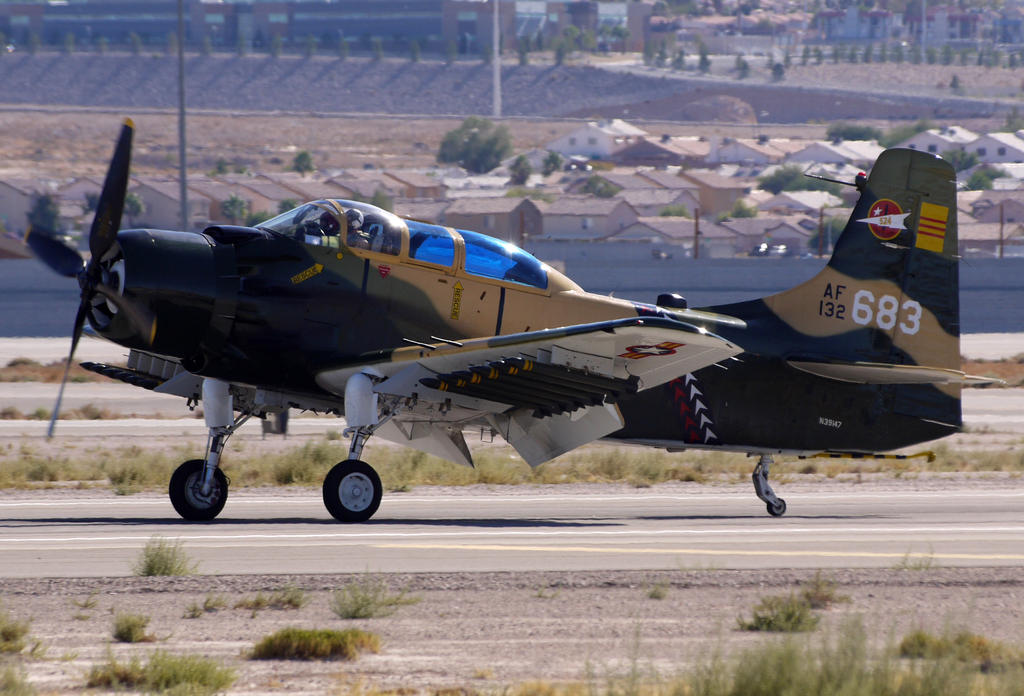 Douglas A-1E Skyraider takeoff by shelbs2