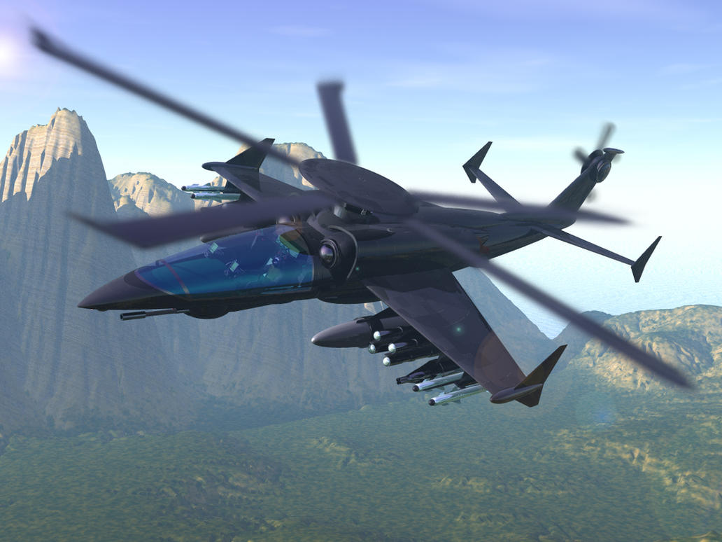 Helicopter Gunship Concept Picture 2d Futuristic Pictures