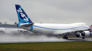 Boeing 747-8F '1st One' Blowin