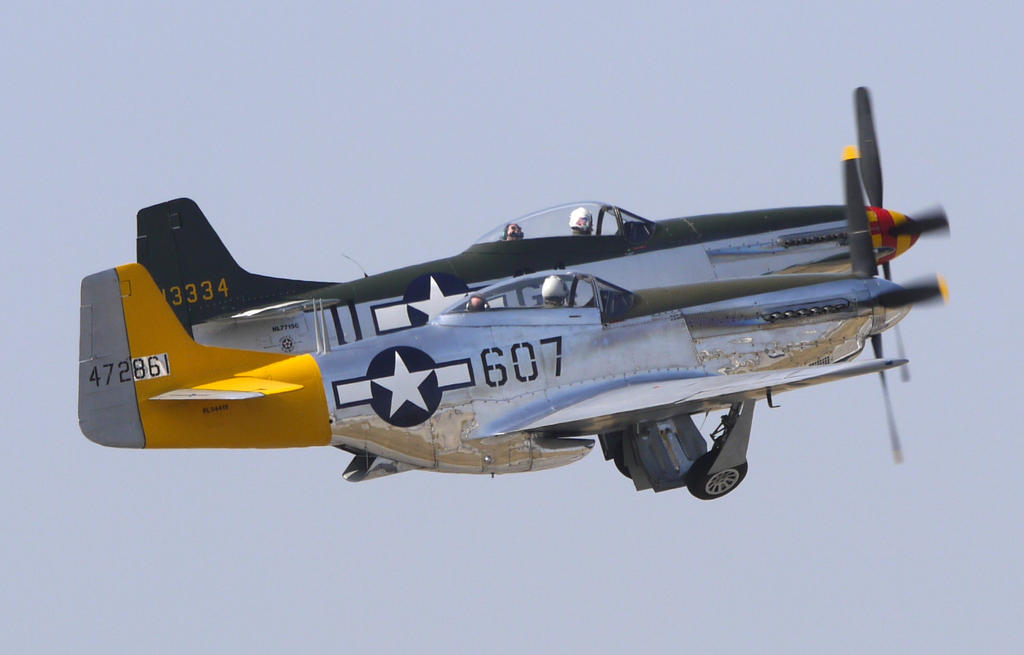 P-51 Duo Takeoff by shelbs2
