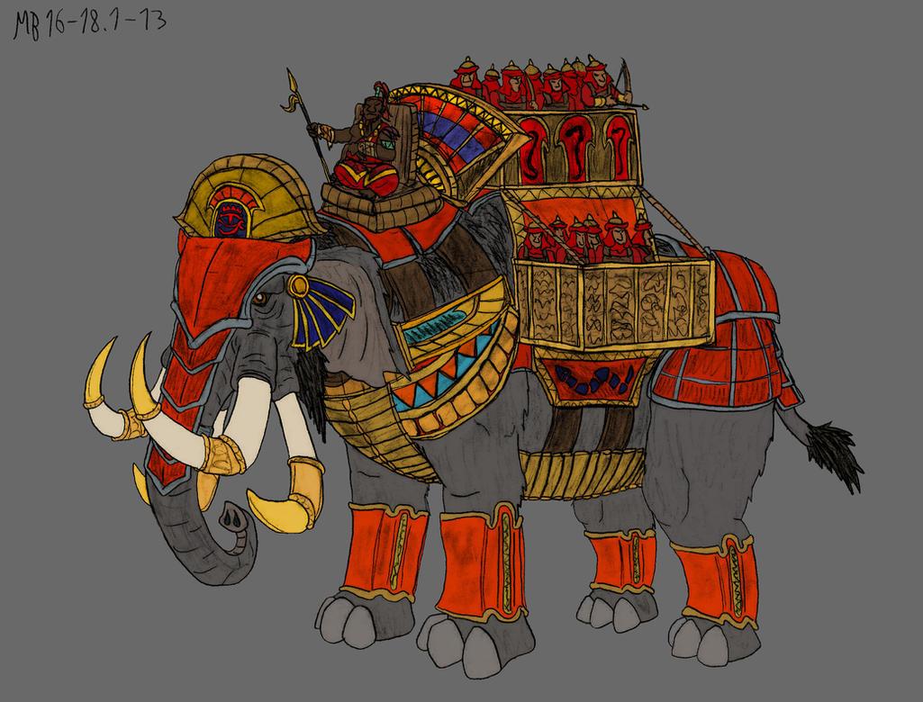 War Mumak, alternate colour-scheme by Mara999