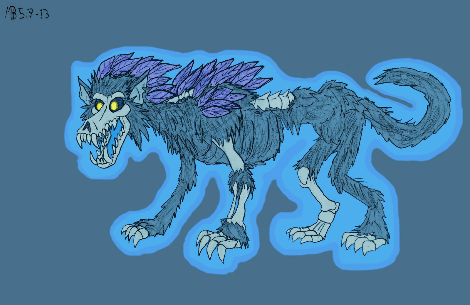 Ghost Wolf, rage-form by Mara999