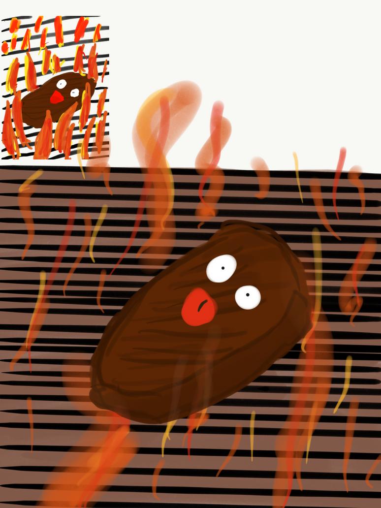 Screaming piece of Meat  by annziasofia