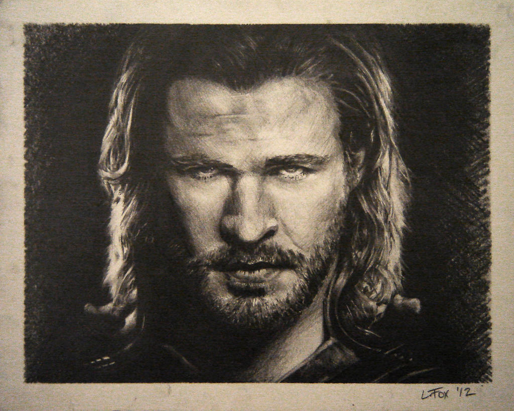 Thor Drawing Gift by hglucky13