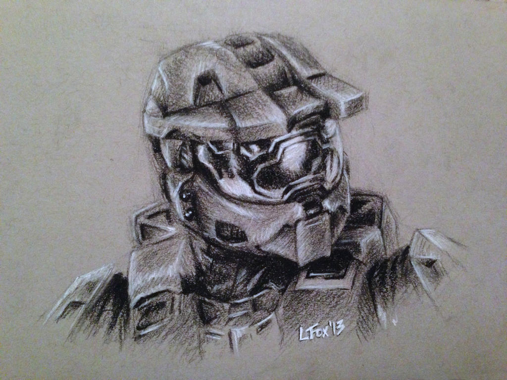 Master Chief Charcoal Bust by hglucky13