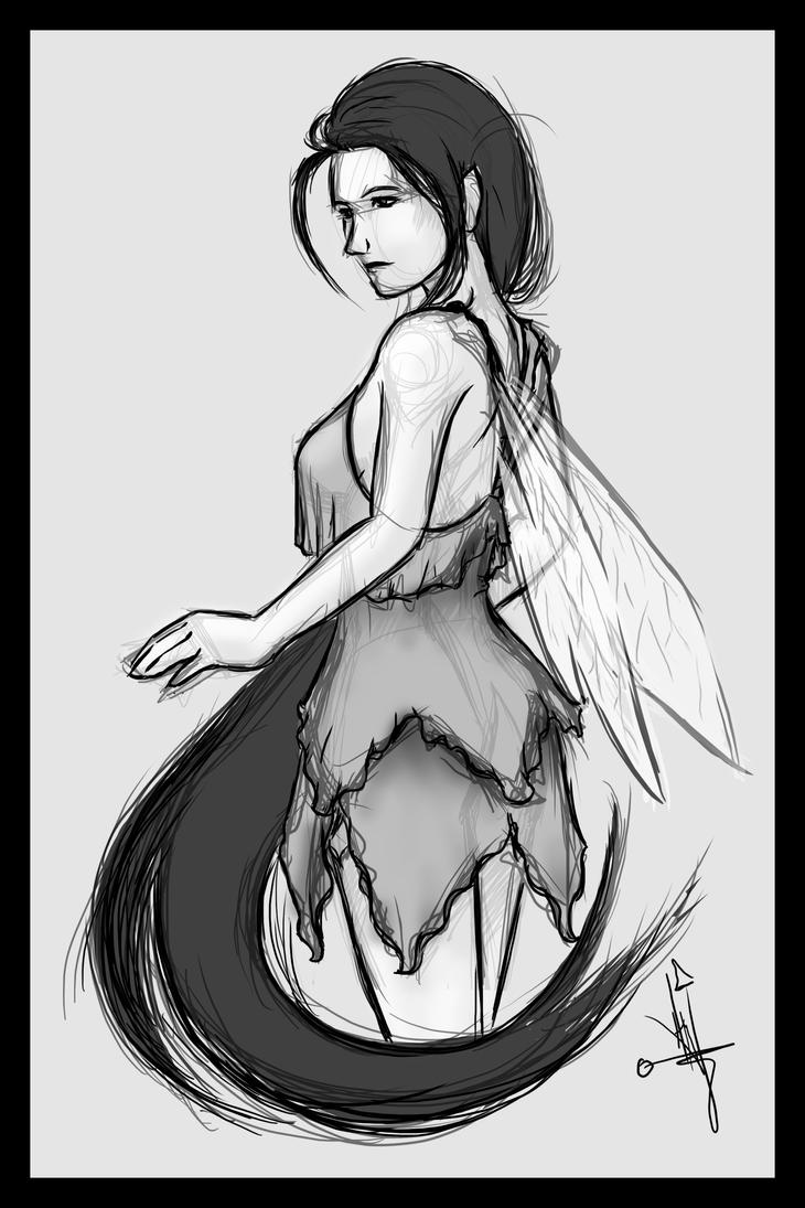 Commission Demo: OC Sketch for JulissaMartinez1 by hglucky13