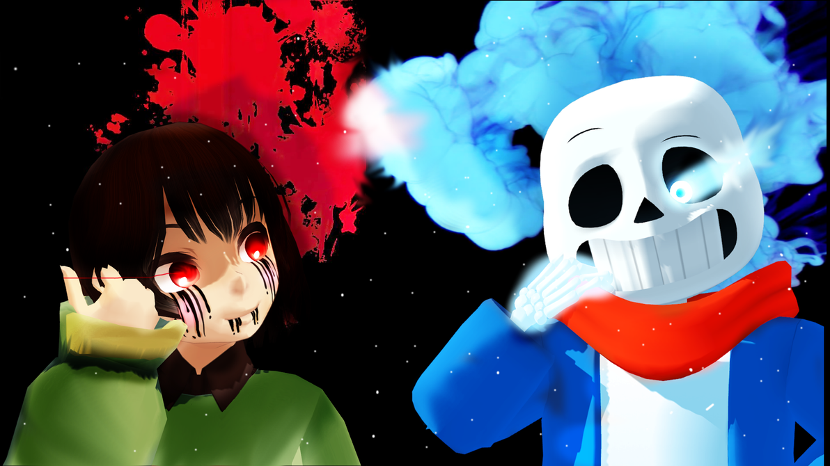 San's and frisk {1920x1080} background by billy2369