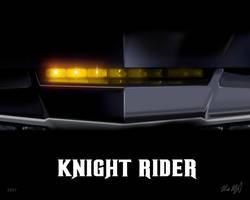 Knight Rider 8x10 - KARR by valaryc