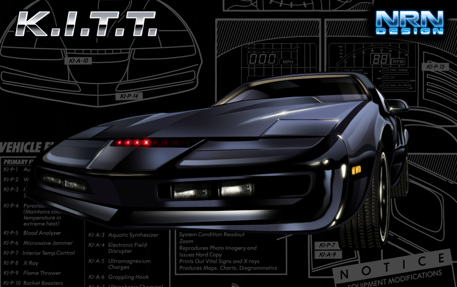Kitt Knight Rider Art by valaryc