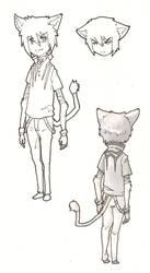 Shin the Lion Cub Boy by stregawolf