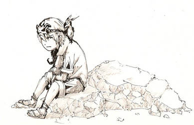 Luke and Ribbon by stregawolf