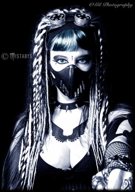 cyber-goth girl portrait (-mistabys-) by mistabys